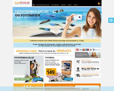 pixelprint.dk website