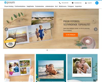 pixum.dk website