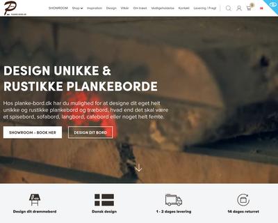 planke-bord.dk website