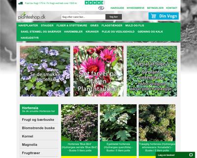 planteshop.dk website