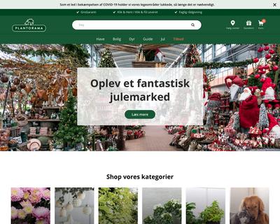plantorama.dk website