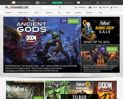 playgames.dk website