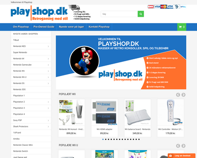 playshop.dk website