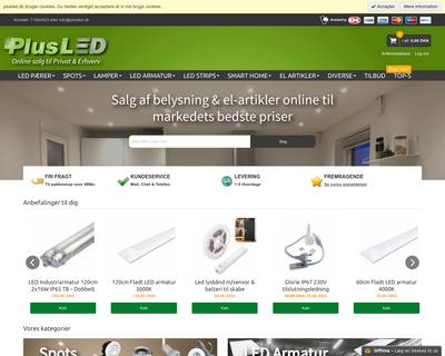 plusled.dk website