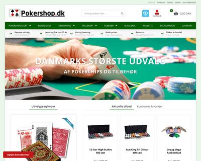 pokershop.dk website