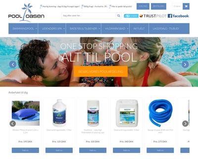pooloasen.dk website