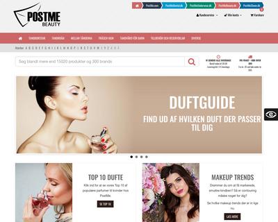 postmebeauty.dk website