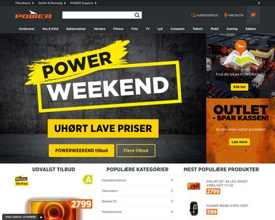 power.dk website