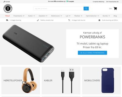 powerbanken.dk website