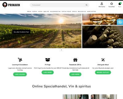 primavin.dk website