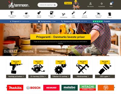 prishammeren.dk website
