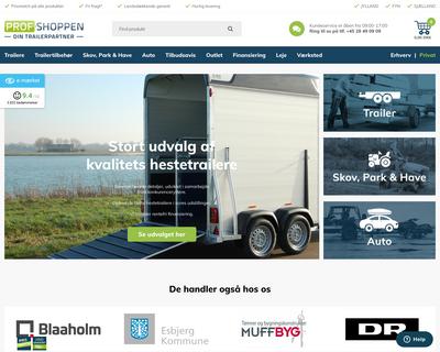 prof-shoppen.dk website