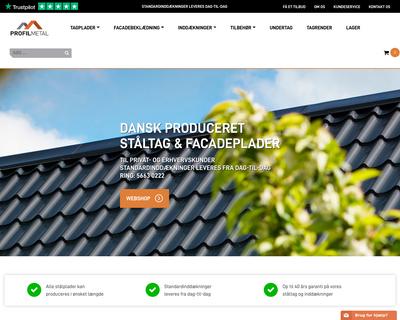 profilmetal.dk website