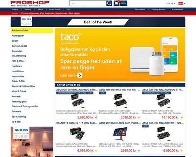 www.proshop.dk website