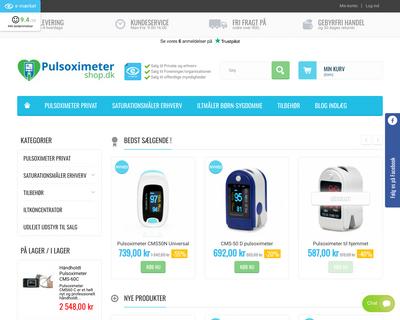 pulsoximetershop.dk website