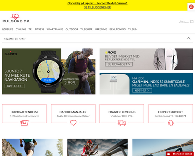 pulsure.dk website