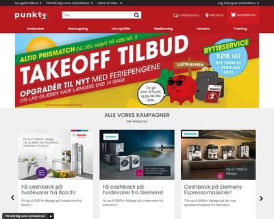 punkt1.dk website