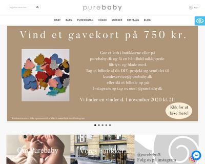 purebaby.dk website
