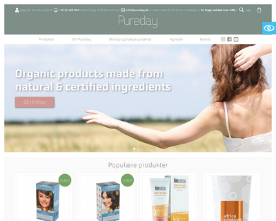 pureday.dk website
