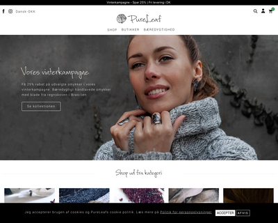 pureleaf.dk website
