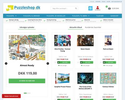 puzzleshop.dk website