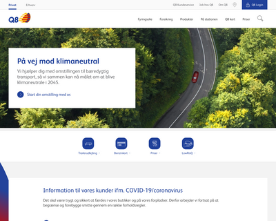 q8.dk website