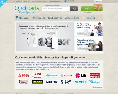 quickparts.dk website