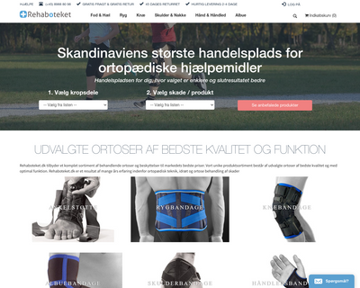 rehaboteket.dk website