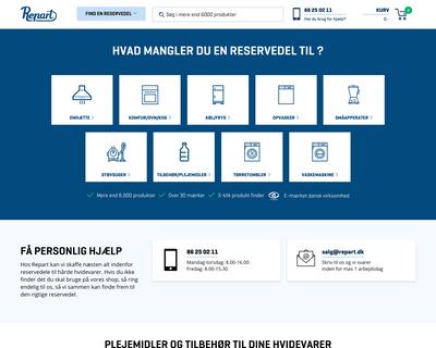 repart.dk website