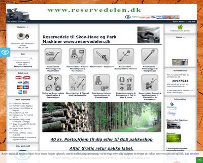 reservedelen.dk website