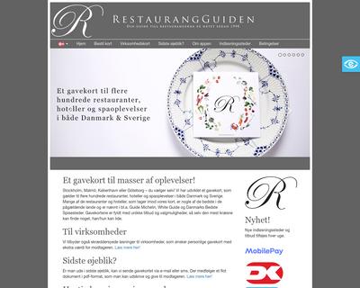 restaurantgavekort.com website