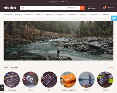 ribatex.dk website