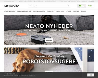 roboteksperten.dk website