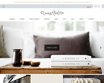 roomsgalore.dk website