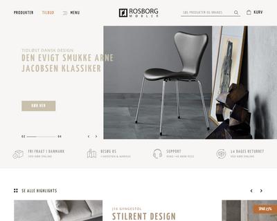 rosborgshop.dk website