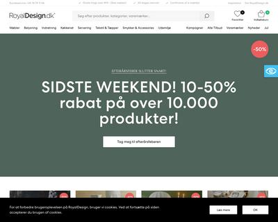 royaldesign.dk website