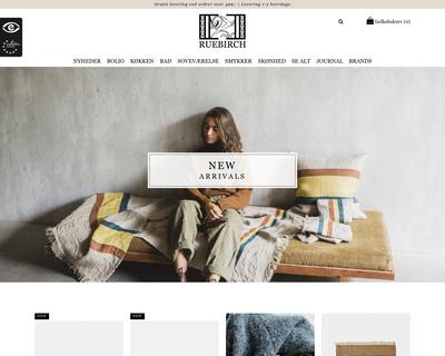 ruebirch.dk website