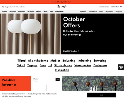 www.rum21.dk website