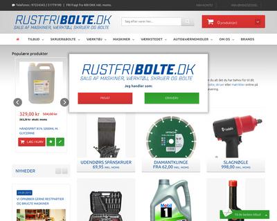 rustfribolte.dk website