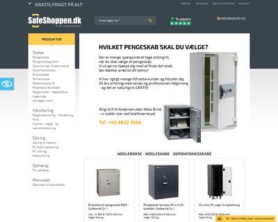 safeshoppen.dk website