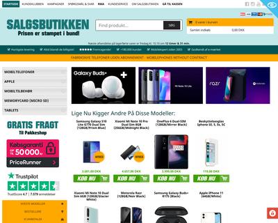 salgsbutikken.dk website