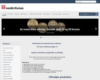 samlerforum.dk website