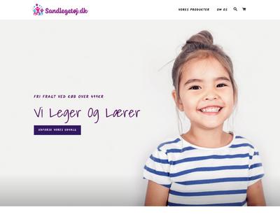 sandlegetoej.dk website