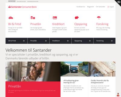 santanderconsumer.dk website