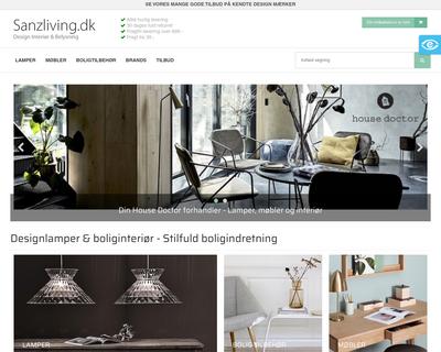 sanzliving.dk website
