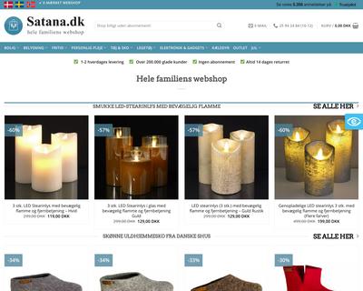 satana.dk website