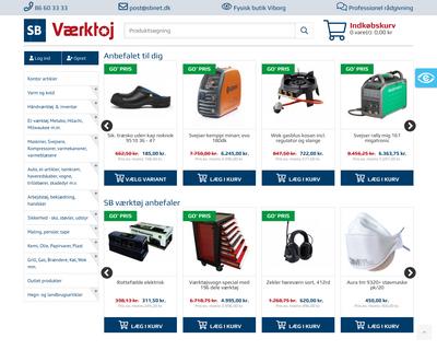 sbnet.dk website