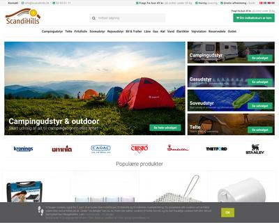 scandihills.dk website
