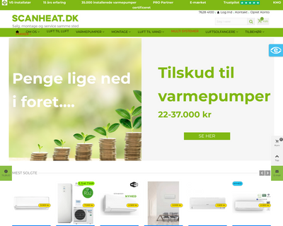 scanheat.dk website