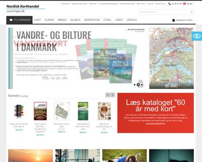 scanmaps.dk website